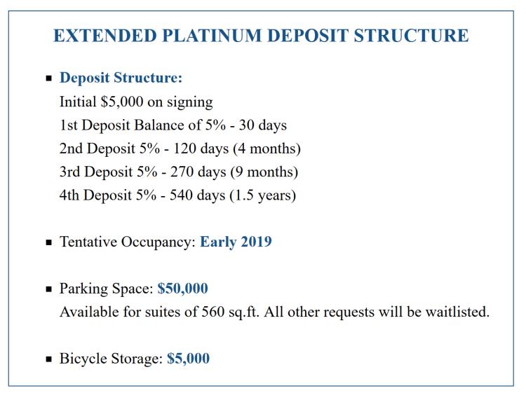 deposit structure